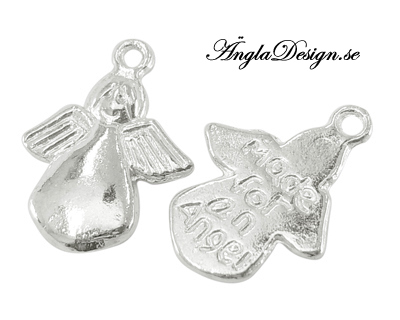 """Berlock """"Made for an angel"""", ljust silver, 10-pack"""
