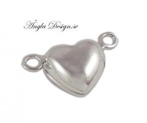 Magnetlås hjärta, antiksilver, 2st
