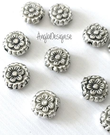 Mellandel mönstrad cirkel med blomma, 10-pack
