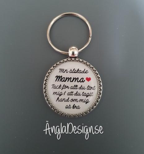 """Färdig nyckelring """"Min älskade Mamma"""", 1st"""