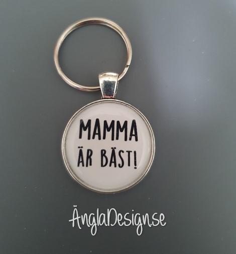 """Färdig nyckelring """"Mamma är bäst"""", 1st"""