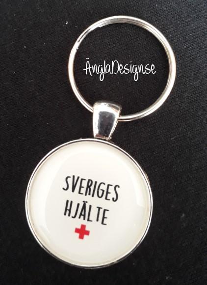 """Färdig nyckelring """"Sveriges hjälte"""", 1st"""