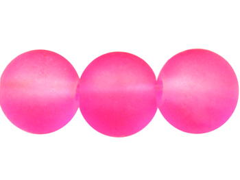 Frostad glaspärla 10mm, rosa