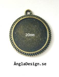 Ramberlock brons, mönstrad för 20mm, 1st