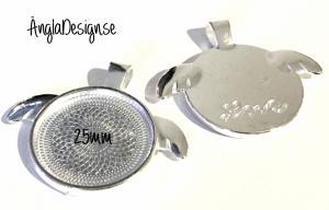 Berlock ram ljust silver 25mm, med vingar,1st