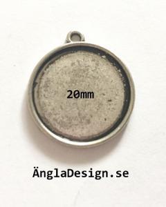 Ramberlock slät antiksilver, för 20mm, 2-pack