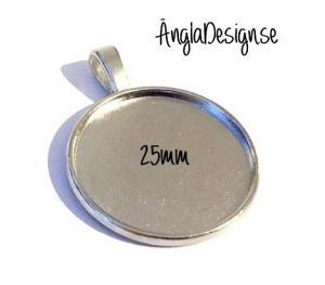Berlock ram platinum för 25mm, stilren, 1st
