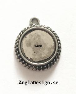 Berlock ram upphöjd mönstrad, för 14mm, 4-pack