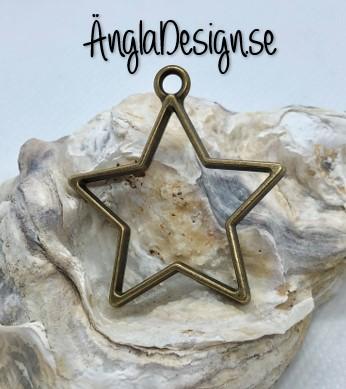 Hänge / resin ram stjärna, brons, 1 st