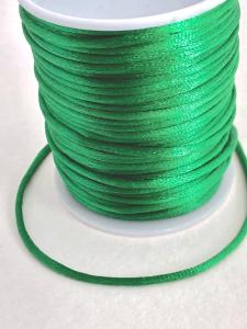 Satintråd/rattail grön 2mm 1meter
