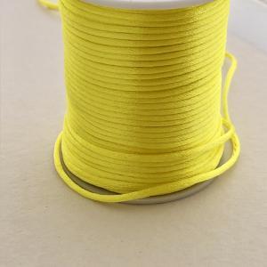 Satintråd/rattail gul 2mm 1meter