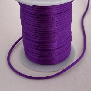Satintråd/rattail lila 2mm 1meter