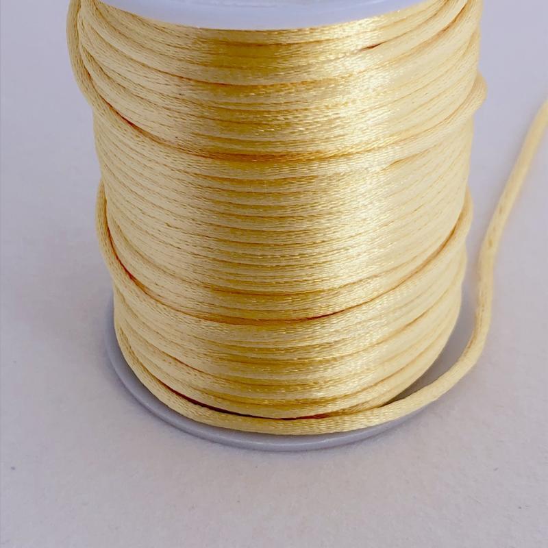 Satintråd/rattail pastell orange 2mm, 1meter