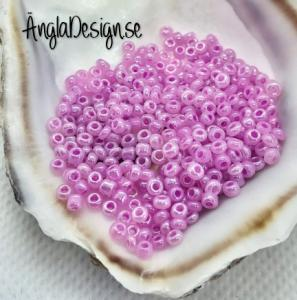 Seed beads pastell ljuslila 2mm, 20 gram