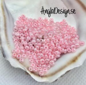 Seed beads pastellrosa 2mm, 20 gram