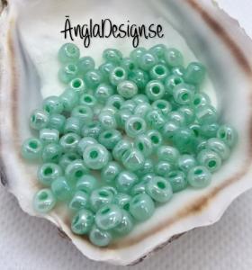 Seed beads pastell turkos 4mm, 20 gram