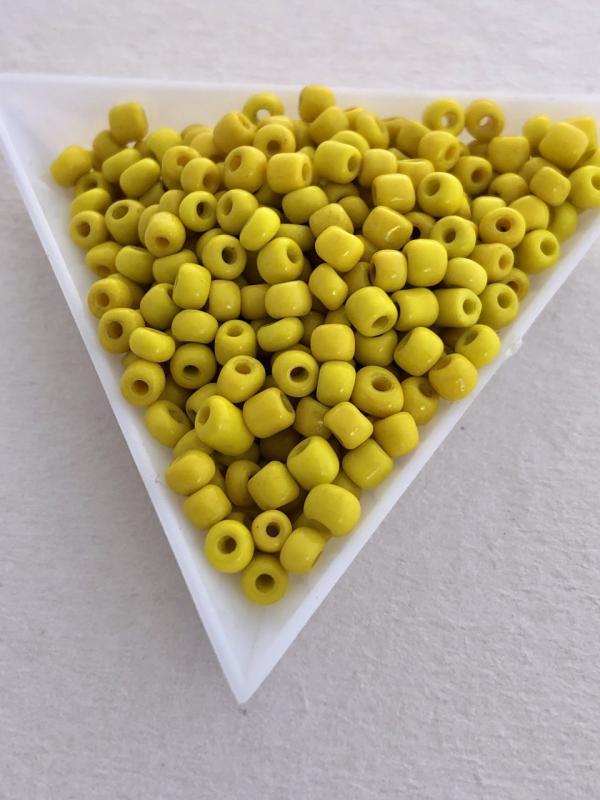 Seed beads opak gula 4mm, 25 gram