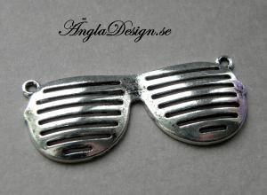 Hänge/Connector coola solglasögon, antiksilver, 1st
