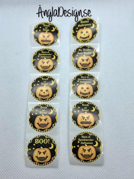 STORPACK Klistermärken runda 25mm halloween, 50-pack
