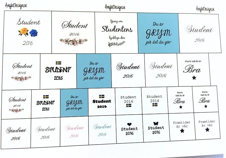 """MIXTARK """"Med olika student motiv 2020"""" 14mm, 20mm,25mm"""