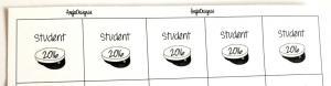 Textark studentmössa 2020 25mm 5 rutor