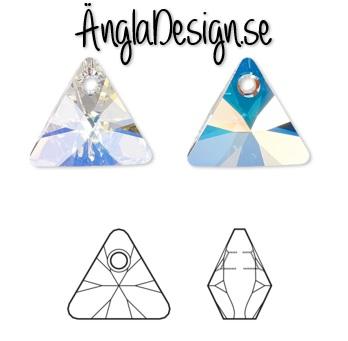 Triangel i Österrikisk kristall klar AB 8mm,1-pack