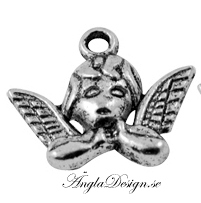 Berlock ängel antiksilver, 5- pack