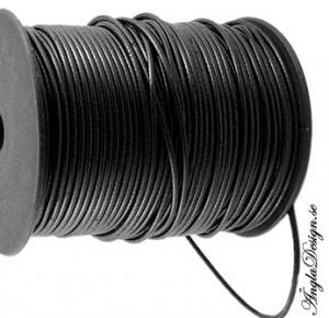 Vaxad bomullstråd 2,5mm, svart, 1 meter