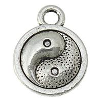 """Berlocker små """"Yin & Yang"""" antiksilver, 10-pack"""