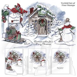 Christmas Scene Tryfolds