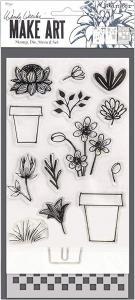 Wendy Vecchi Make Art Stamp Flower Pot