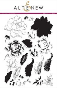 Clear Stamp- Peony Bouquet