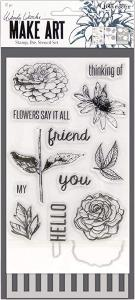 Wendy Vecchi Make Art Stamp Flowers Say At all