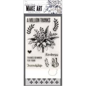 Wendy Vecchi Make Art Stamp A Million Thanks