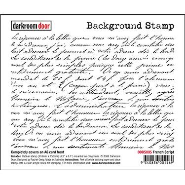 Darkroom door Background Stamp- French Script