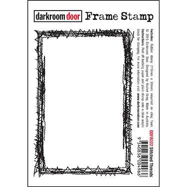 Darkroom door Frame Stamp -Stitched Threads