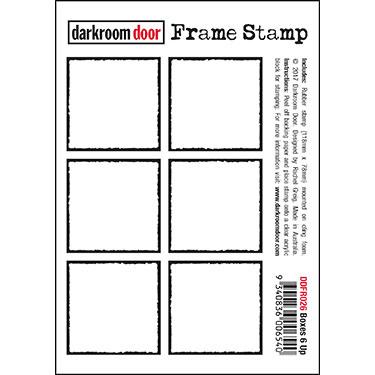 Darkroom door Frame Stamp -Boxes 6 Up