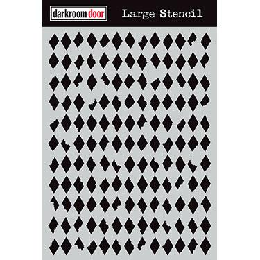 Darkroom door Large Stencil- Diamonds