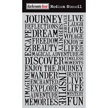 Darkroom door Medium Stencil - Journey