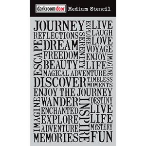Darkroom door Medium Stencil - Journey