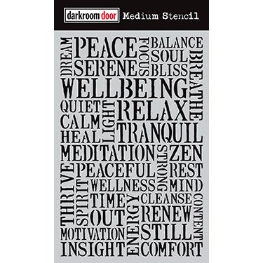 Darkroom door Medium Stencil -Wellbeing
