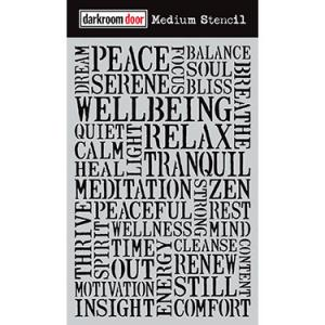 Darkroom door Medium Stencil -Wellbeing