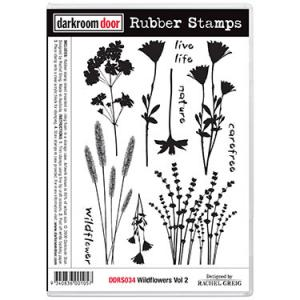 Darkroom door rubber stamp set -Wildflowers Vol 2
