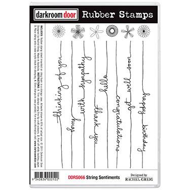 Darkroom door rubber stamp set- String Sentiments
