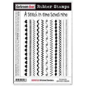 Darkroom door rubber stamp set- Stitched Borders