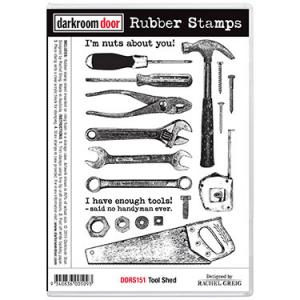 Darkroom door rubber stamp set-Tool Shed