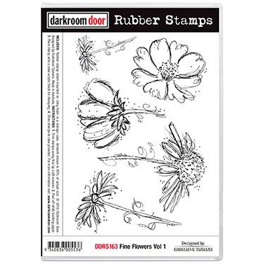 Darkroom door rubber stamp set-Fine Flowers Vol 1