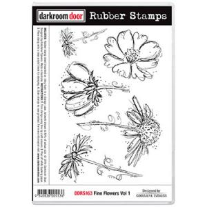 Darkroom door rubber stamp set-Fine Flowers Vol 1