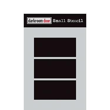 Darkroom door Small Stencil -Boxes 3 Up