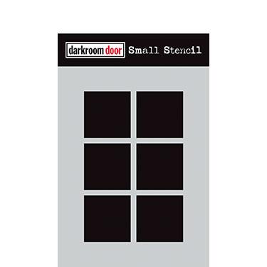 Darkroom door Small Stencil -Boxes 6 up